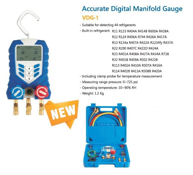 Electrical Wire Gauge Measuring Tool Digital Manifold: Хладилна и климатична техника